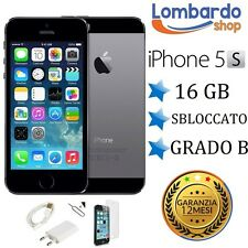 IPHONE DE APPLE 5S 16 GB PUEDE B NEGRO ESPACIO GRIS TEXTO ORIGINAL EN RECUPERADO