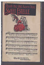 Ca 1905-1906 SWEET ESTELLE, RARE MUSIC POST CARD W/LYRICS & ILLUSTRATED IN COLOR