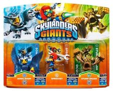 Skylanders Giants SONIC BOOM SPROCKET STUMP SMASH Triple Pack NISB Swap Force
