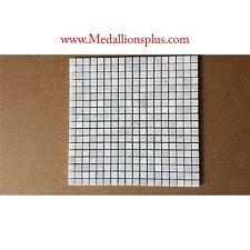 "Mosaic Marble 5/8"" Squares Backsplash Tile Carrera White Kitchen Tile Bathroom"