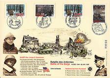"Maxi FDC BELGIQUE ""60 ans Bataille des Ardennes - PATTON & TASSIGNY / WWII"" 2004"