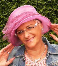 Sombrero Mujer para eventos Fantástico de organza Seeberger BODA Dama Elegante