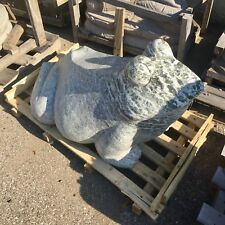 3' Japanese garden carved marble stone Frog pond water stone Koi pond