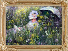 Monet Flowering Meadow Dollhouse Picture - Framed Miniature Art -Made In America