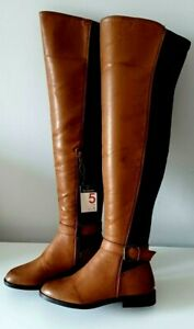 Ladies Womens Over The Knee Boots Tan Size 3 BNWT