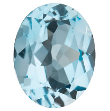 LARGE 15.5x12.5mm OVAL-FACET NATURAL BRAZILIAN SKY-BLUE TOPAZ GEMSTONE (APP £87)