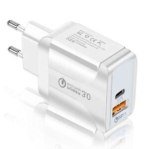 Caricatore Caricabatteria USB,PD18W,USB-C,QC3.0,Rapida per iPhone,Samsung,Huawei