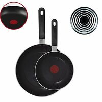 Tefal A157B245 Taste Twin Pack Frying Pans, 20cm and 28cm Black