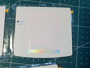 Glass Nintendo Game Boy Color Replacement Screen Lens White Holographic DEFECTS