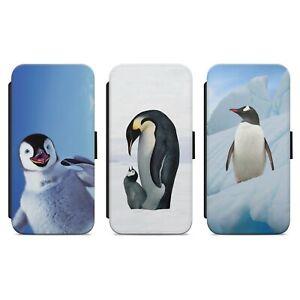 LITTLE CUTE PENGUIN SNOW ARCTIC WALLET FLIP PHONE CASE COVER