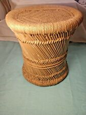 Hand Woven Bamboo End Table