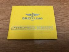 Breitling Watch International Warranty Booklet - A1334011 - 2010