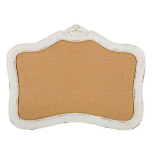 White Memo Board Messages Wooden Framed Resin Ornate Rustic Home Accent Office