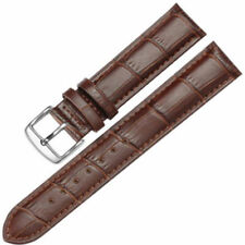 Genuine Leather Men's Watch Strap & DIY Tool - 22mm Brown With Brown Stitches