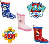 Boys Girls PAW PATROL Welly Wellies Wellington Boots Skye Everest Chase Kids