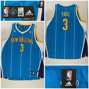 Adidas Mens XXL CHRIS PAUL New Orleans Hornets Jersey CP3 Blue