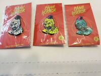 Bam Box Exclusive Pin Complete set of 3 TERRIFIED Clown REG,250 AND 99