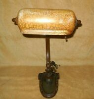 "ORIGINAL HANDEL DESK LAMP - TROUGH SHADE / 16"" TALL /"