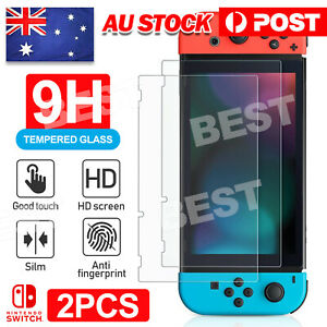 2X For Nintendo Switch Tempered Glass Screen Protector Film For Nintendo Switch