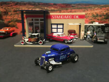 1:64 Hot Wheels LE AA/FC Blown 1934 34 Ford 5 Window Coupe Hot Rod Blue
