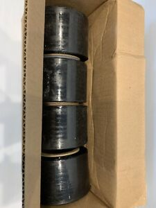 Goodwrappers Black Opaque Stretch Wrap 4 Rolls 3In X 1000 FT Per Roll