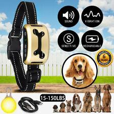 Rechargable Anti Bark Collar Stop Dog Barking Sound & Vibration Adjustable S/M/L