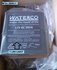 LED underwater light TRANSFORMER 12 VOLT 30va PLUG IN W'Co #265011 SAA APPROVED