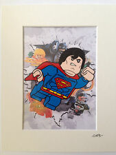 Lego - DC Comics - Superman - Hand Drawn & Hand Painted Cel
