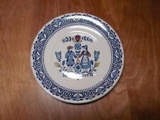 "Johnson Bros England HEARTS & FLOWERS Salad Plate 7"" Blue 1 ea"