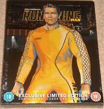 The Running Man Collectors Edition Steelbook / Blu Ray / Art cards / Pin Badge.