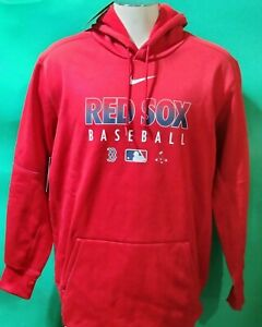 Boston Red Sox Red Hooded Sweatshirt Nike MLB baseball Authentic Collection M-XL