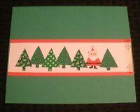 "MERRY CHRISTMAS Cute Santa Claus in Tree Shape 8x6.5"" Greeting Card Art #5302"