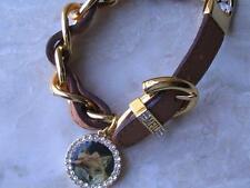 "~Brighton Bracelet ""Canterbury"" My Flat in London Leather Goldtone Nwt!~"
