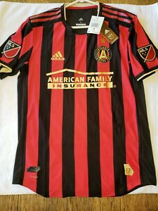 $120 Mens M Adidas Atlanta United FC Soccer Jersey Shirt Red Black MLS DP4873