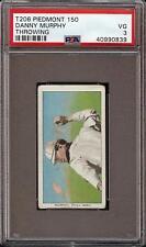 1909-11 T206 Danny Murphy Throwing Piedmont 150 Phila PSA 3 VG