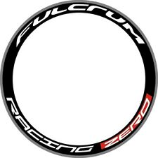 FuIcrum Racing Zero Road Bike Deep Rim Wheel Decals Stickers Graphics Art White