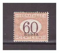 s13609) LIBIA 1925 MNH** Nuovi** 60c Segnatasse 1v. Sass. 11