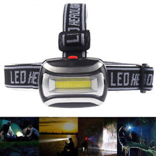 COB LED Headlamp Headlight Frontal Head Lamp 3 Mode Energy Saving AAA Flashlight
