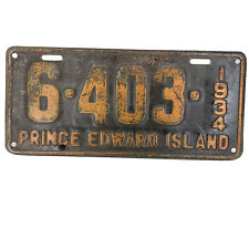 Antique License plate Prince Edward Island PEI license plate 1938 Vintage