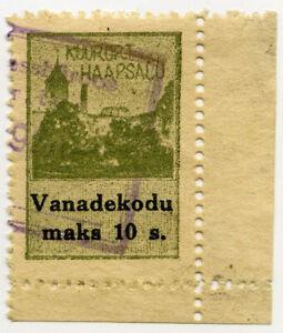c1930 HAAPSALU RESORT ESTONIA MUNICIPAL REVENUE