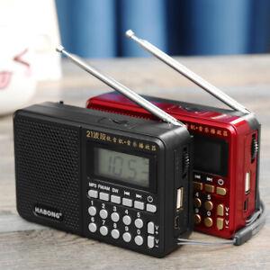 Pocket  AM SW FM Radio Portable Handheld Digital MP3 Player Rechargeable USB