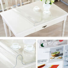 """PVC Transparent Tablecloth Waterproof Clear Dining Table Cover Protector 27x46"""""""