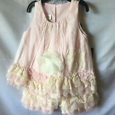 Isobella And Chloe Baby Girl Pink And Ivory A-Line Tunic Pant Set 18M-New