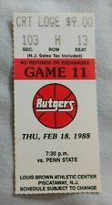 1988 Rutgers Vs Penn State College Basketball Ticket Stub 2/18/88