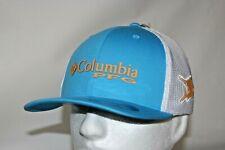 Columbia Pfg Marlin Flexfit Fitted Mesh Ball Cap Hat in Riptide L/Xl Free Decal