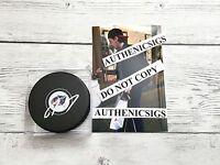 Ryan Johansen Signed Columbus Blue Jackets Hockey Puck Autographed PROOF b