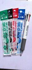 Zebra 4+1 Clip On Multi Pen + Mechanical Pencil  WHITE barrel w/ 4 ink refill