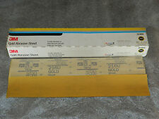 "BRAND NEW 3M 02469 HOOKIT GOLD FILM 50 SHEETS 2-3/4"" x 16"" P220A GRIT 2.75"" x 16"
