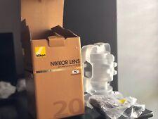 New listing Near Mint - lightly used, Nikon Nikkor 20mm f/1.8 Ed Af-S Lens original package