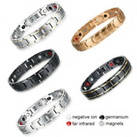 Therapeutic Energy Healing Bracelet Stainless Steel Magnetic Therapys BraceleFBB